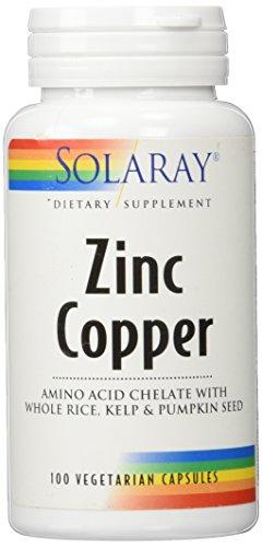 Zinc with Copper Solaray 100 Caps