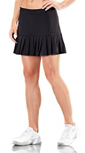 Fila Women's Pleated Knit Tennis Skirts BLACK XS