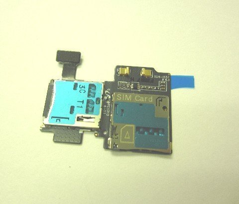 ATT Samsung Galaxy S4 S 4 IV SGH-i337 Sim Card Holder Memory Tray Slot Flex Cable Replacement Part OEM by Samsung [並行輸入品]