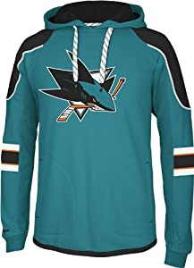 NHL San Jose Sharks Men's Edge Team Hooded Jersey, Black, XX-Large