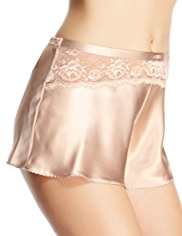 Rosie for Autograph Silk French Knickers with French Designed Rose Lace