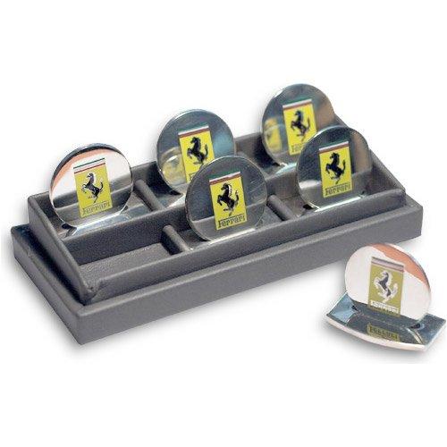 Ferrari silver place cards set