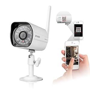ZMODO Wireless 720P HD IP Network PoE Camera with 80ft IR Night Vision Weatherproof IP Camera QR Code