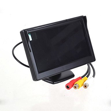 """Zcl 5.0"""" Led Display Screen Car Rear-View Stand Security Monitor - Black (480 X 234 Pixels)"""