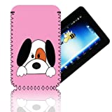 Biz-E-Bee Exclusive 'CUT DOG 7' Pink ARCHOS 70 (70b) INTERNET (ARNOVA 7, 7B, 7F, G2 & G3) Shock Shock Resistant 7 Inch Neoprene Tablet Case, Cover, Pouch