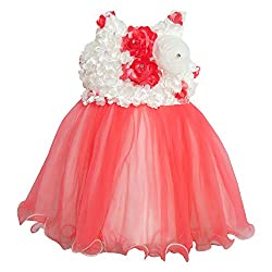Chokree Red Color Party Wear Dress/Frock for girl