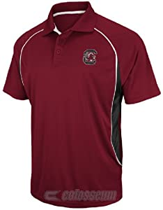 NCAA South Carolina Gamecocks Synthetic Playmaker Polo Shirt by Chiliwear by Chiliwear LLC