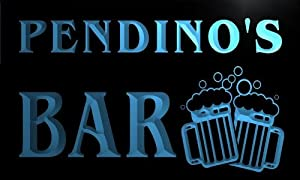 w101004 b PENDINO Name Home Bar Pub Beer Mugs Cheers Neon Light Sign