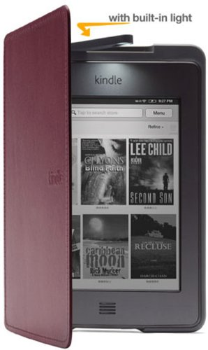 Amazon Kindle Touch Lighted Leather Cover, Wine Purple (Does Not Fit Kindle Paperwhite)