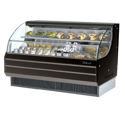 Turbo Air Tom-60Lb Black Low Profile Horizontal Air Curtain Display Case - 14.7 Cu. Ft.-Tom-60Lb