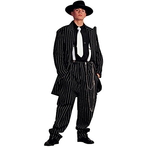 Adult Men's Classic Zoot Suit Halloween Costume (Size: Standard 42-46)