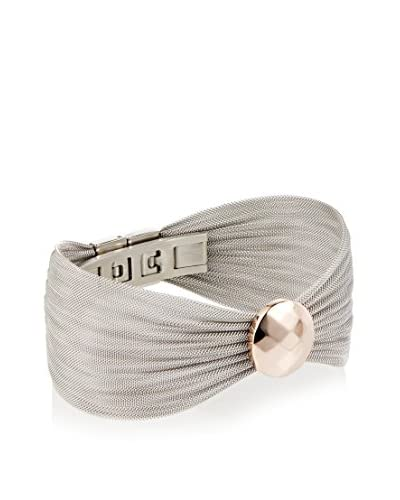 Chloe by Liv Oliver Mesh Bracelet With 18K Rose Gold Disc