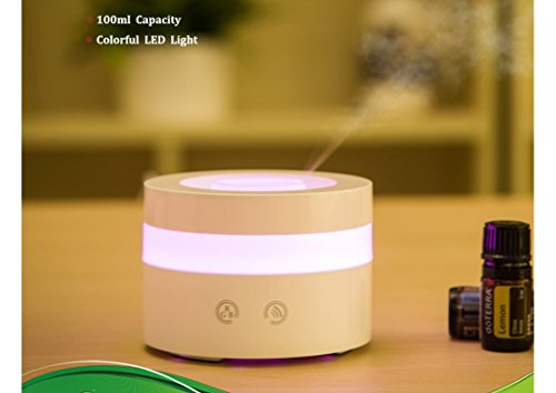 Actpe Portable Travel-size USB 100ml Aroma Essential Oil Diffuser Ultrasonic Air Humidifier Ultrasonic Cool Mist for Car Bedroom Baby Kids Home Office Spa (Travel Humidifiers Diffuser compare prices)