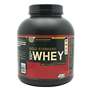 Optimum Nutrition Gold Standard Whey Chocolate Coconut -- 5 lbs