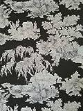 Ideco Charcoal Toile De Jouy Wallpaper 922067