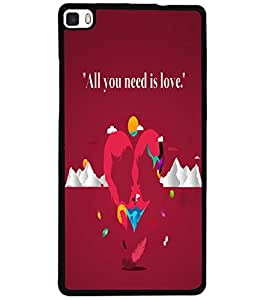 ColourCraft Love Image Design Back Case Cover for HUAWEI P8