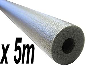 5 metres 13mm wall thickness Climaflex (5m) for 15mm outside diameter bore pipes - Foam Insulation Lagging 13mm wall thick thickness