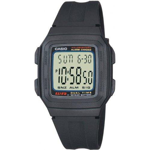 Casio F-201W-1AEF - Reloj digital de cuarzo para hombre, correa de resina color negro