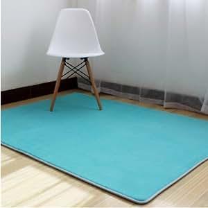 ustide turquoise coral fleece carpet for