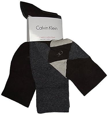 Men's Calvin Klein 3 Pack of Socks Brown Argyle/Grey/Brown