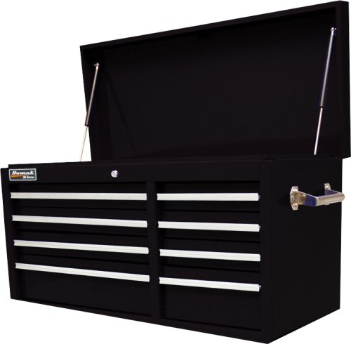 HOMAK BK02008410 41-Inch SE Series 8-Drawer Top Chest, Black