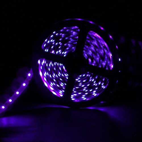 Supernight (Tm) 5M Super Bright Purple Smd 3528 Led Chips Non-Waterproof Flexible Strip Lights Christams Decorative Led Lights For Diy 300Leds/Roll