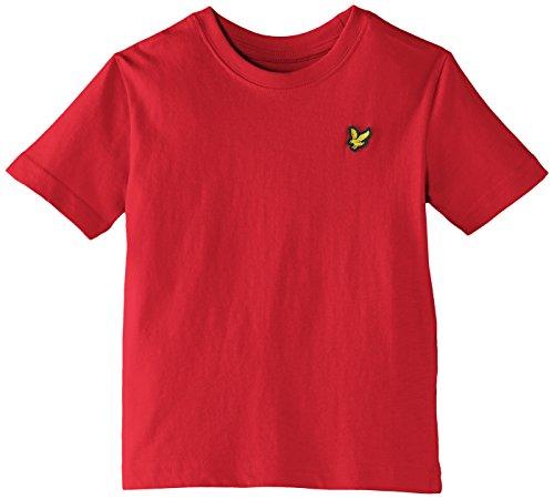 flying-monkey-press-badge-logo-t-shirt-per-bambini-e-ragazzi-rosso-royal-red-12-13-anni