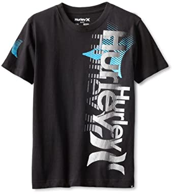 Hurley Boys 8-20 Miss Fortune Cool Tee, Black, Small