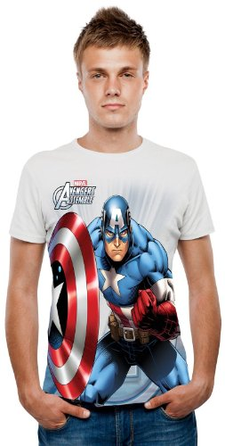 Marvel Captain America Digital TShirt (Captain America Morphsuit compare prices)