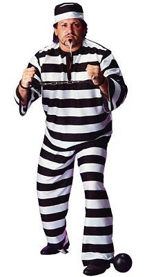 Convict Men's Costume Adult Halloween Outfit