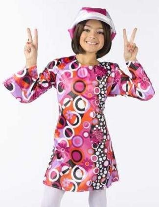 Fun World Feelin' Groovy Kids Retro Mod Go-Go Dress 60s 70s Halloween Costume