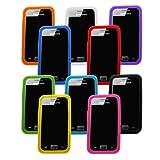 Samrick Lot de 10 coques en silicone avec film de protection et chiffon en microfibre pour Samsung Galaxy Ace S5830 Bleu fonc�/bleu clair/vert/orange/blanc/rose/violet/rouge/jaune/noir