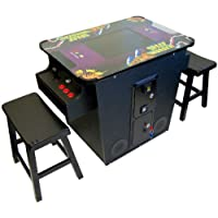 Cocktail Arcade Machine 60 in 1 Retro Classic Games Includes 2 Benches Includes Pacman Donkey Kong Galaga Frogger Space Invaders Centipede & Much More - Brand New Commerical Grade