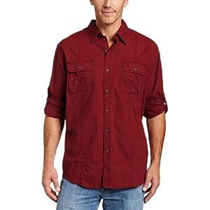 brick red shirt firefly mal reynolds long sleeved cowboy