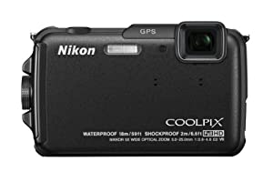 Nikon COOLPIX AW110 16 MP Waterproof Digital Camera with Built-In Wi-Fi (Black)