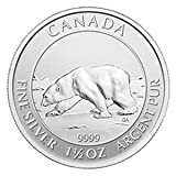 2013 Canada Polar Bear $8 1.5 Oz .9999 Silver Coin. First 1.5oz Issued
