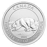 2013 Canada Polar Bear $8 1.5 Oz .9999 Silver Coin. First 1.5oz Issued