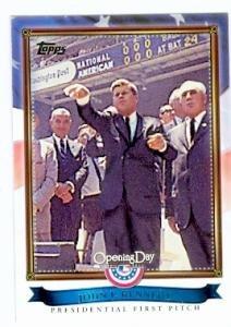 John F. Kennedy baseball card (President of the United States) 2011 Topps #PFP-9