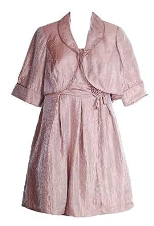 Le Bos Plus Size Cocktail Dress & Jacket Rose Size 16W