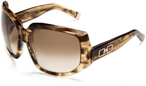 Dsquared2 Women'S Dq0020 Resin Sunglasses,Melange Brown Frame/Gradient Brown Lens,One Size