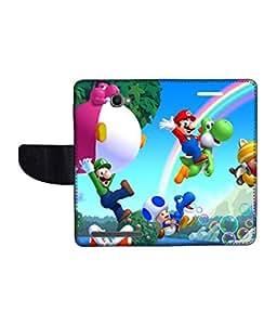 KolorEdge Printed Flip Cover For Alcatel One Touch Flash Multicolor - (1479-55KeMLogo09113AlcatelFlash)