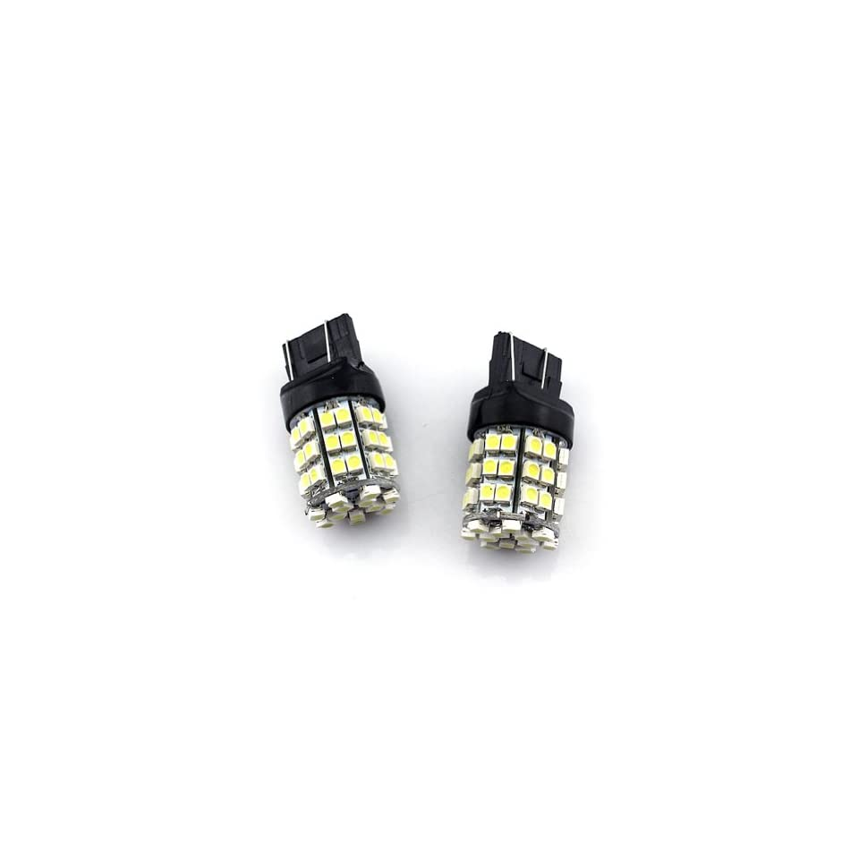 2 pcs Car/Truck/Vehicle T20 7443 White 54 SMD 3528 LED Tail brake stop LED head Light Bulb   Compatible Bulb Model(for reference only)7740, T20, 990, 991, 992,992A, 7440A,7440LL,7440NA,7441,7443, 7443R,7444,7444A