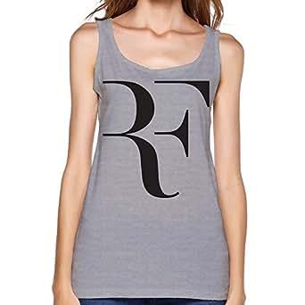 SHUNLI Women's Roger Federer Logo Tenis Tank Tops Size XXL Gray at