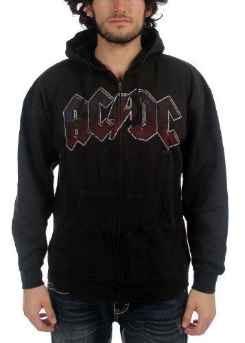 AC/DC -  Felpa con cappuccio  - Uomo nero Large