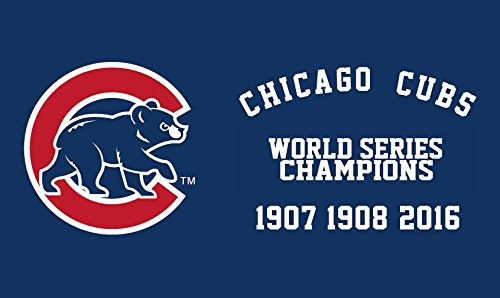 Chicago Cubs World Series Champions Banner flag 3x5 Feet