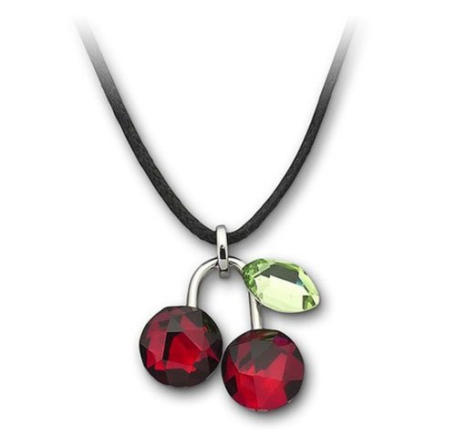 Rarelove Swarovski Elements Crystal Red Cherry Pendant Necklace