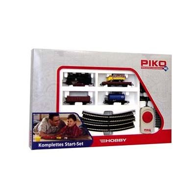 Piko-57111-H0-Start-Set-Gterzug-mit-Dampflok