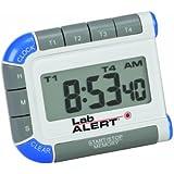 Heathrow Scientific HEA24670 Lab Alert Digital Four Channel Pocket Timer/Clock
