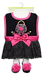 Baby Girl My Just Like Mommy Purse and Tutu Dress Up Bib and Sock Set by Baby Starters - Black - 0-9 Mths