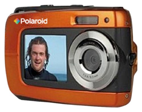 Polaroid IF045-ORNG-BLIS-2 14MP Dual Screen Waterproof Digital Digital Camera with 2.7-Inch LCD (Orange)